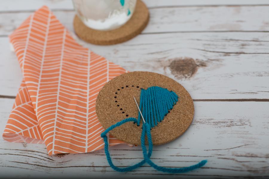 DIY Coaster Stitching
