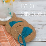 DIY Hand-stitched Drink Coasters