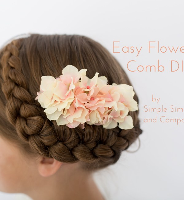 Easy Flower Comb DIY