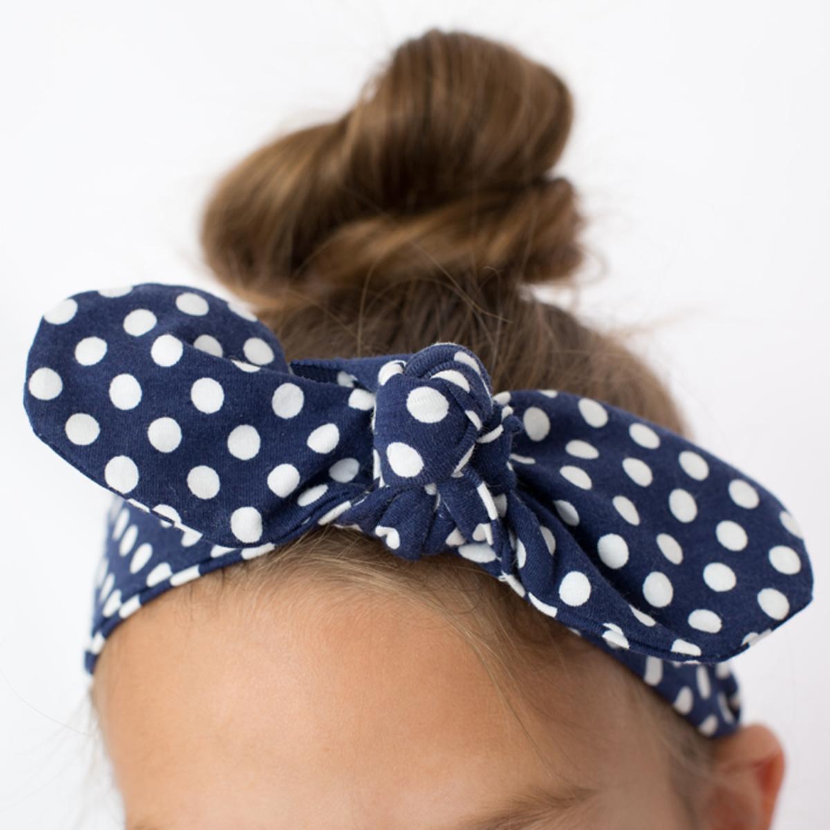Top knot headband tied knotted bow fabric headband
