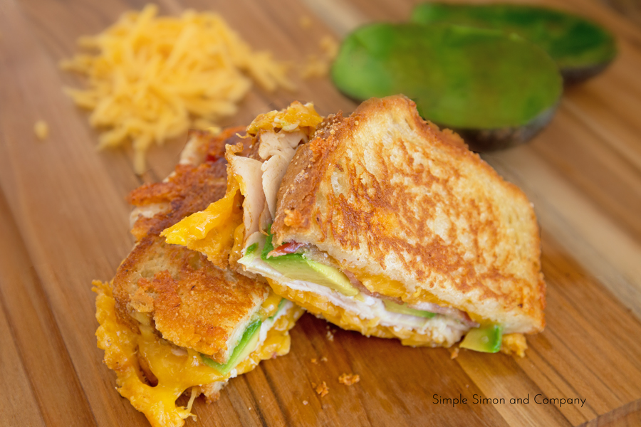 Turkey Bacon Avacado Grilled Cheese