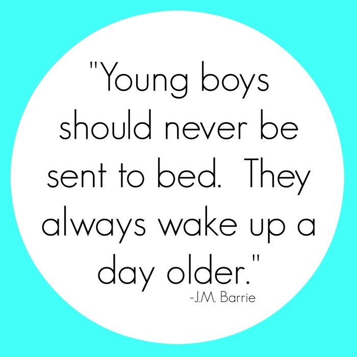 Young Boys Quote
