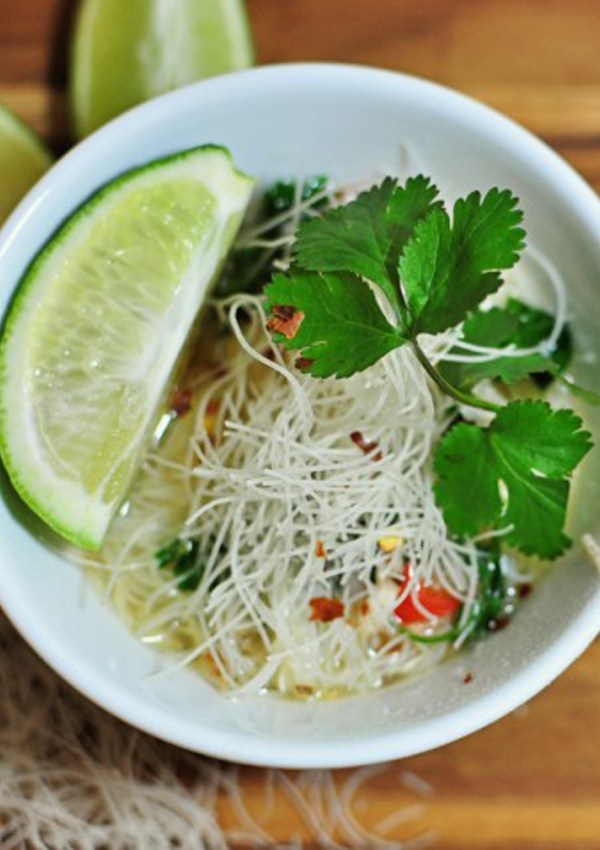 Thai Chicken Noodle Soup in the Slow Cooker