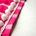 Pom Pom Embellished Beach Towel