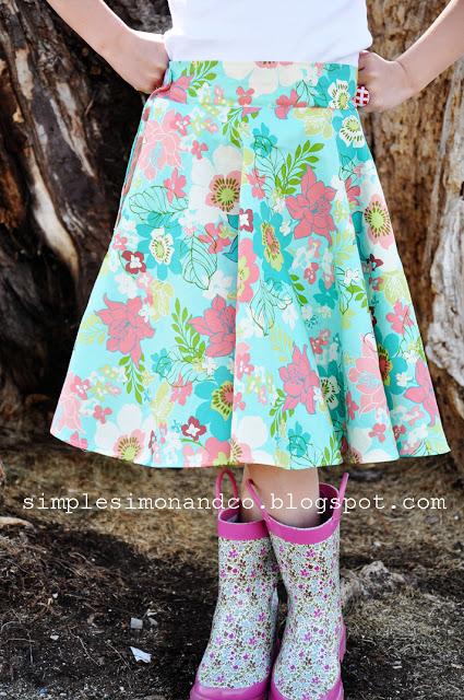 circle skirt with pockets