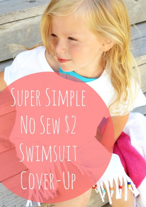Simple No Sew Swimsuit Cover