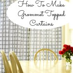 Teach The One:  Great Projects for Practicing Straight Lines…Curtains!!!