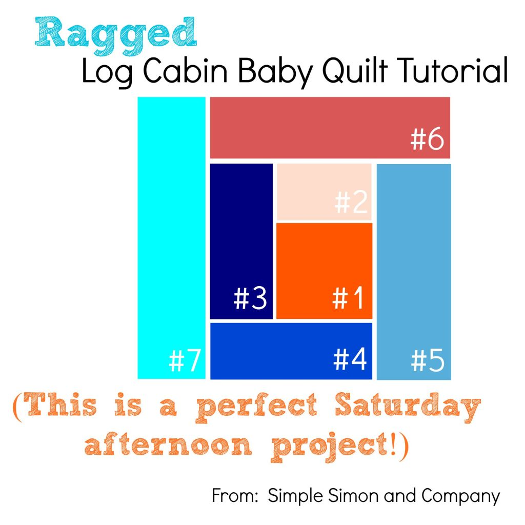 Log Cabin Baby Quilt Tutorial Titile
