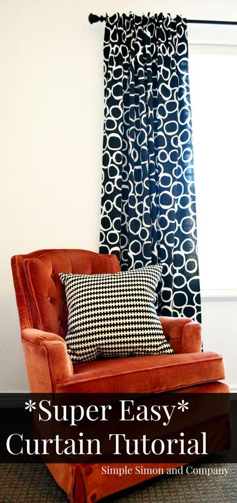 Super Easy Curtain Tutorial