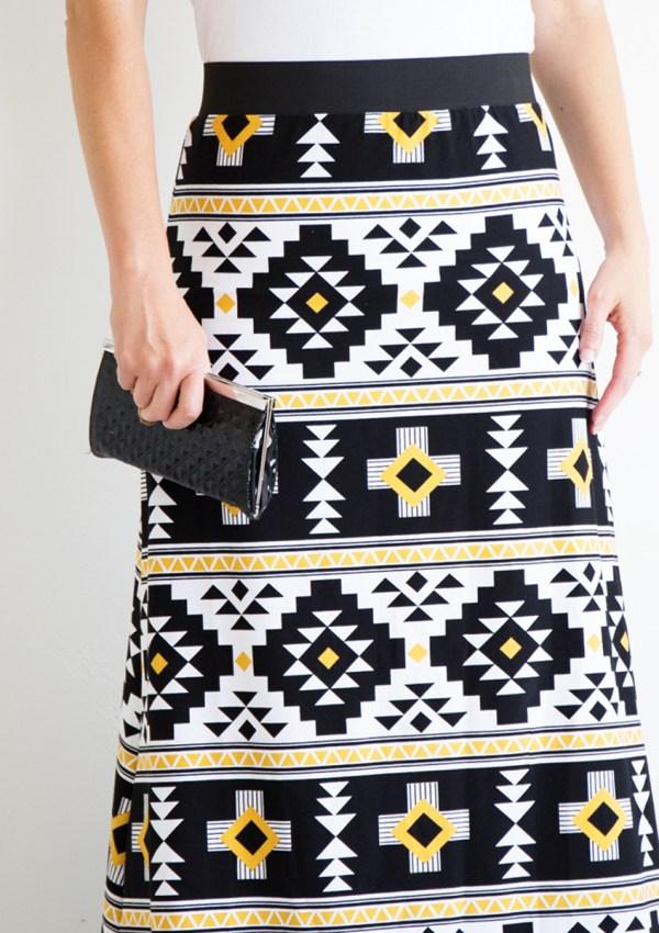 Simple Women's Maxi Skirt PDF Pattern—FREE!!!
