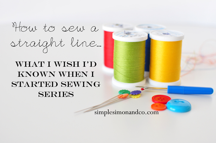 sew a straight line