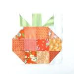 Quilt Block of the Month–The HST Pumpkin Quilt Block