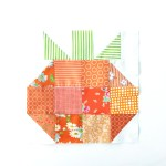 Quilt Block of the Month–The HST Pumpkin Quilt Block