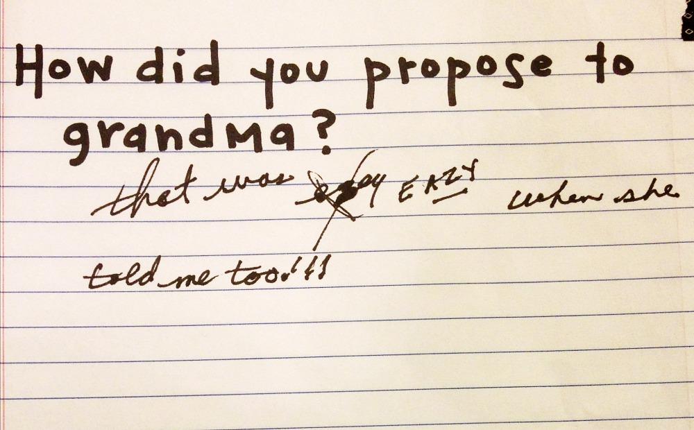 Grandpas Book with grandma question