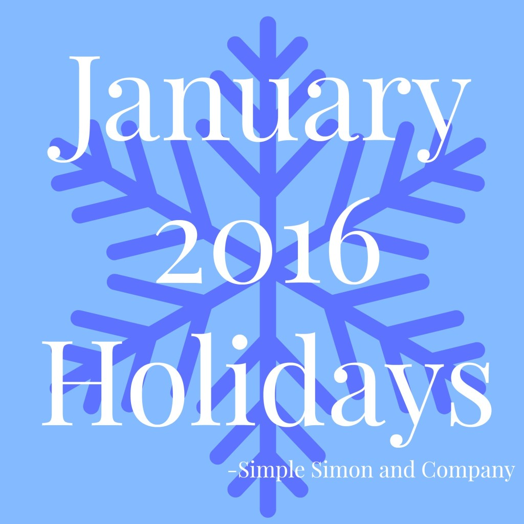 January 2016 Holidays