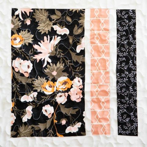 Peaches and Cream Quilt Block