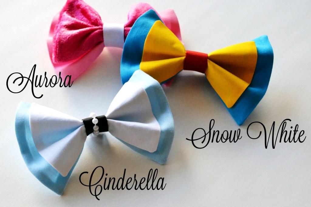 Hairbow Snow White Cinderella Aurora