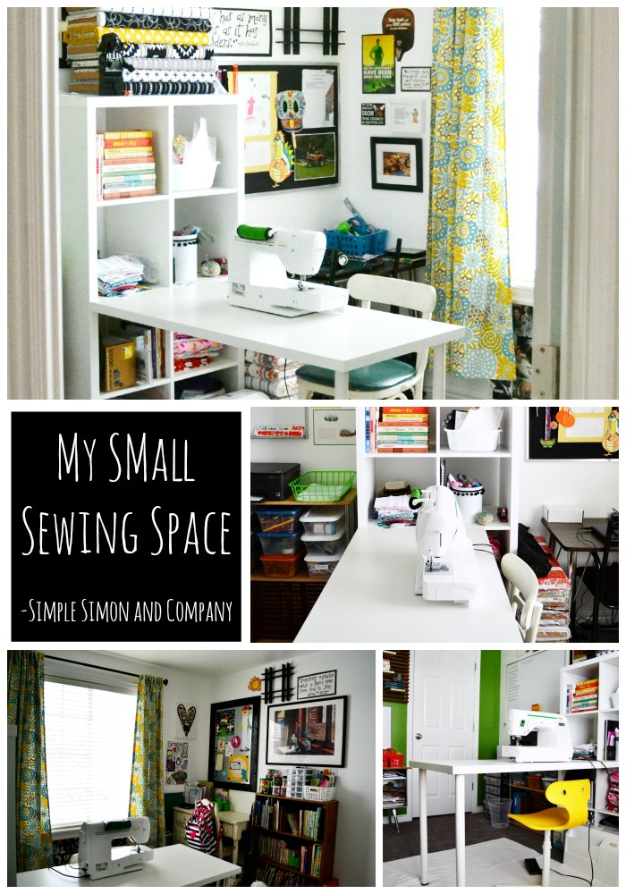Small Sewing Space Collage