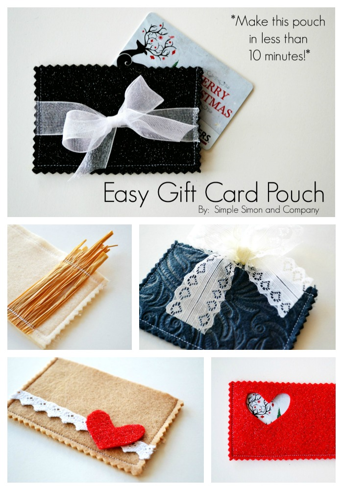 Easy Gift Card Pouch Tutorial Simple Simon And Company