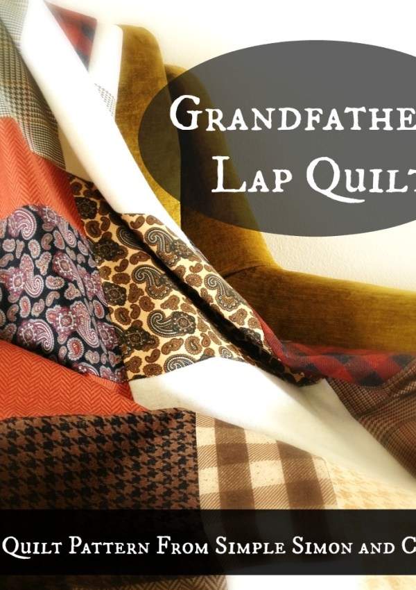 Grandfather's Lap Quilt Free Quilt Pattern and Tutorial