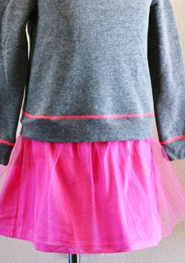 How to Turn a Sweatshirt into A Dress