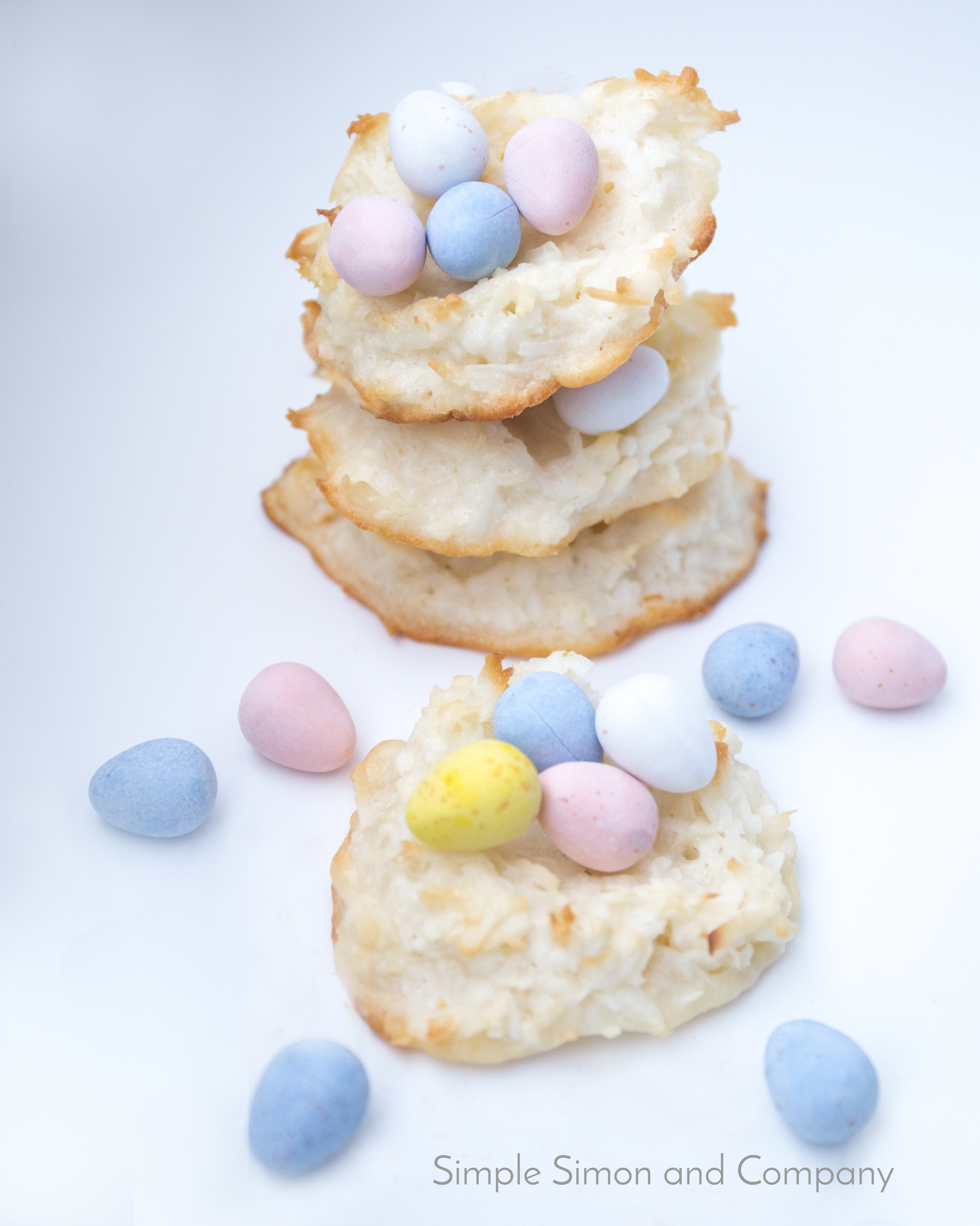 Coconut Macaroon Cookie Nests end