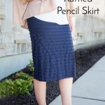 Easy Ruffle Pencil Skirt