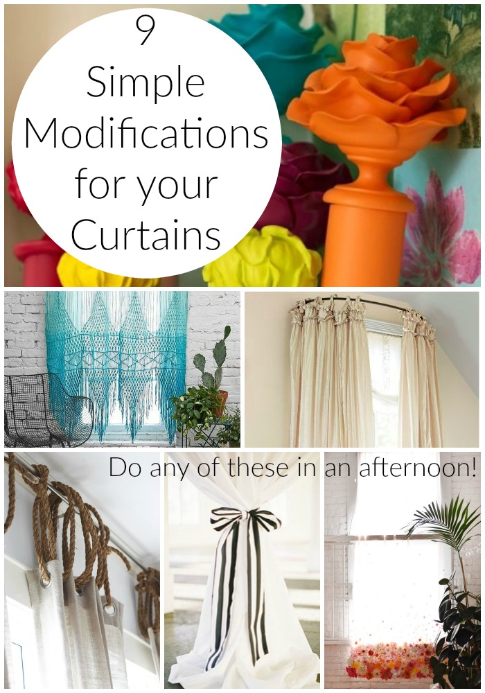 9 Simple Curtain Modifications