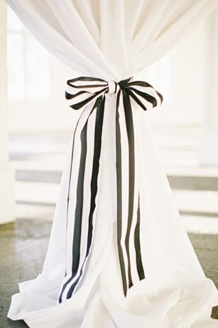 Curtains with a bow
