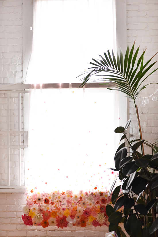Curtains with flowers