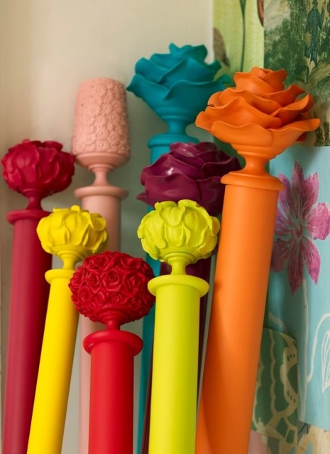 curtain rods painted
