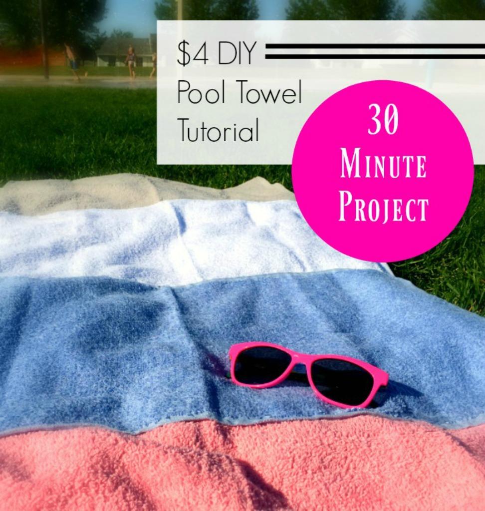 $4 Pool Towel Tutorial 3