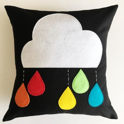 How to Make a Cloud with Raindrops Pillow