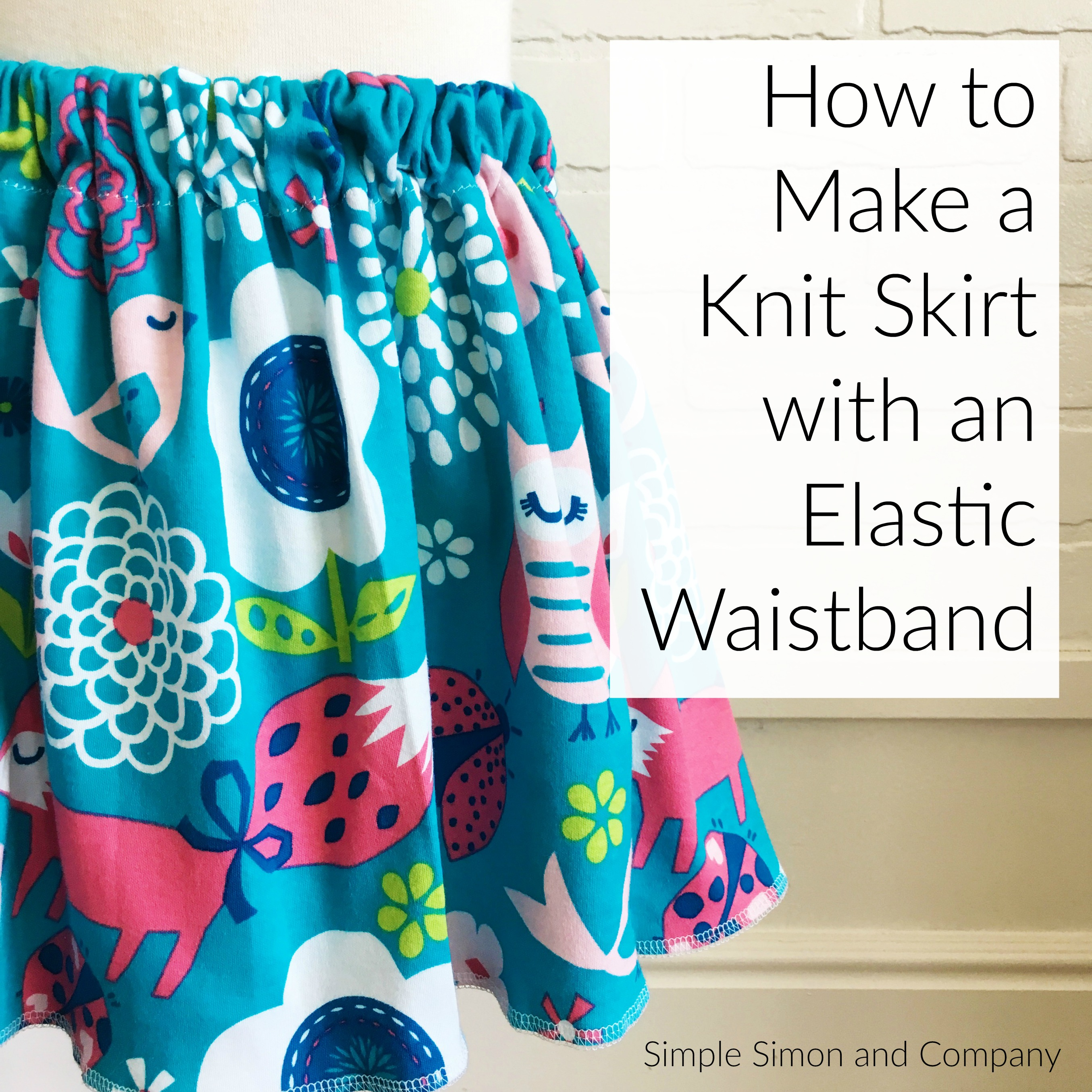 How to make a knit elastic waistband skirt a simple tutorial how to make a knit elastic waistband skirt a simple tutorial bankloansurffo Images