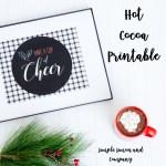 Hot Cocoa Printable