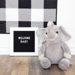 Black and White Gingham Baby Quilt