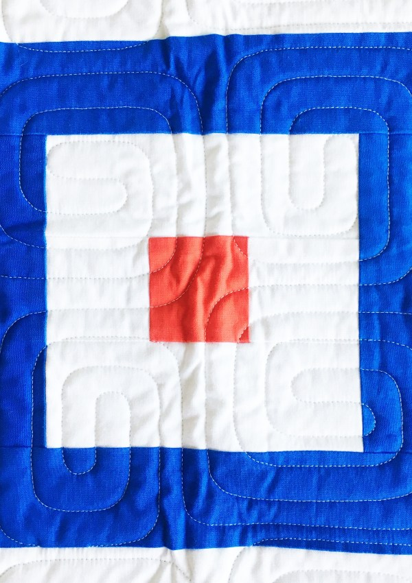 "Nautical Summer Quilt Along Day 4:  ""W"" Flag or How to Make a Courthouse Steps Block"