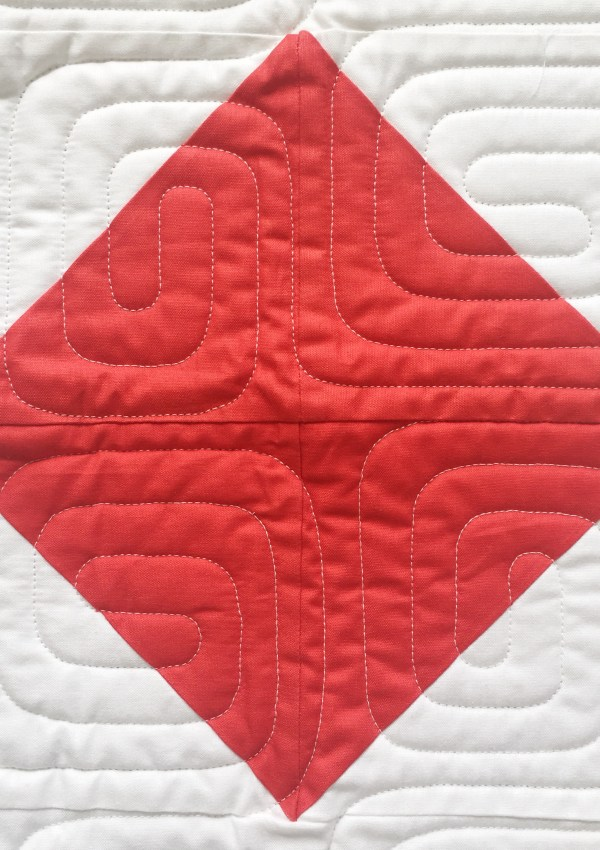 """Nautical Summer Quilt Along Day 2: """"F"""" Half Square Triangles"""