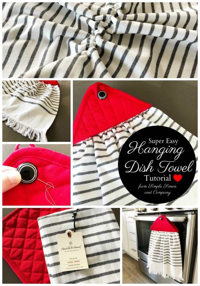 How To Make An Easy Hanging Dish Towel Simple Simon And