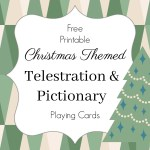 Christmas Telestrations and Pictionary Game Cards