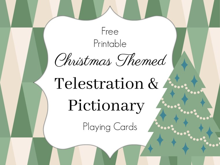 Christmas Telestrations And Pictionary Game Cards Simple Simon And