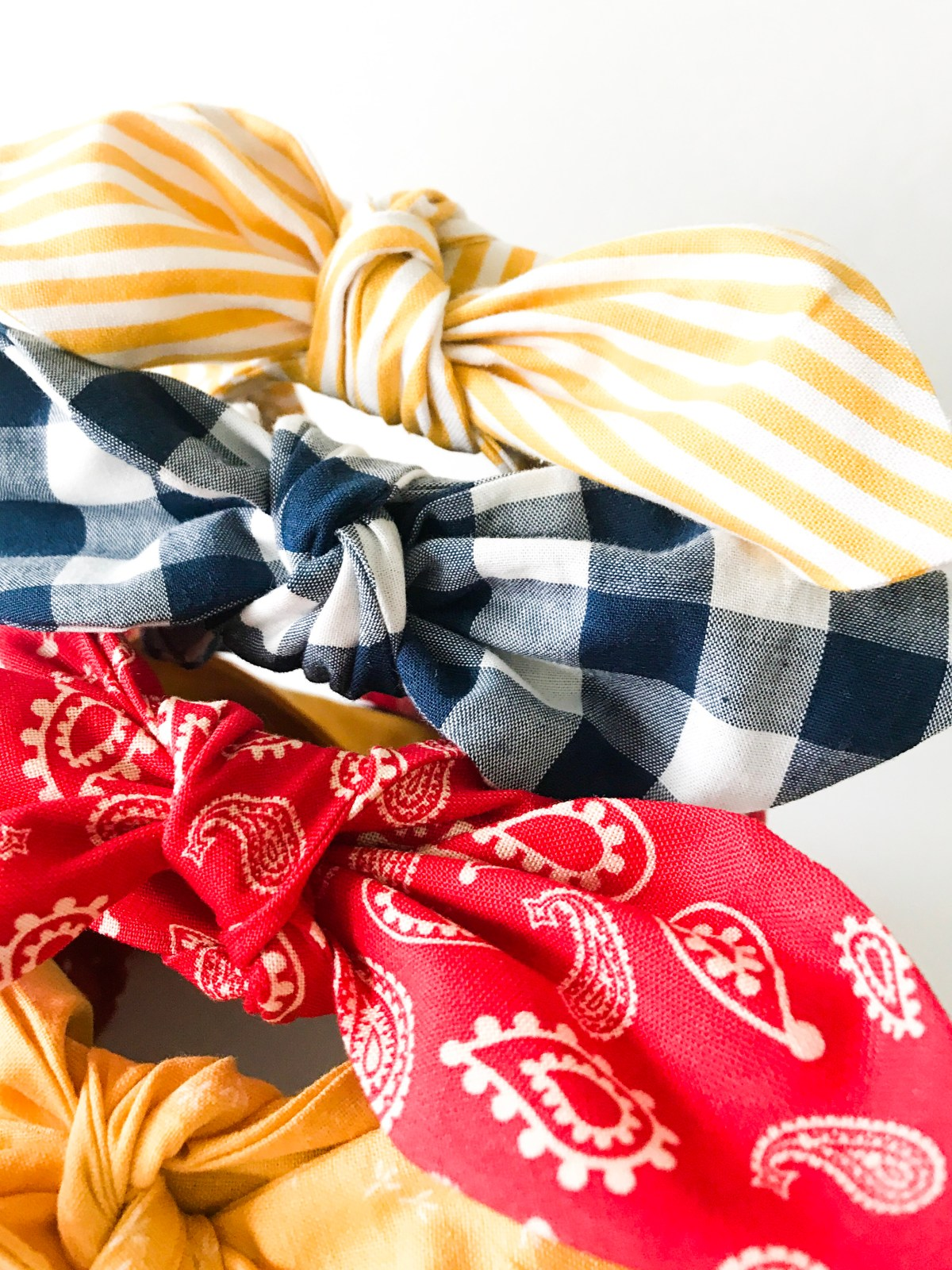 Bow Tie Headband Pattern  Knot Details