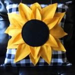Sunflower Pillow Pattern