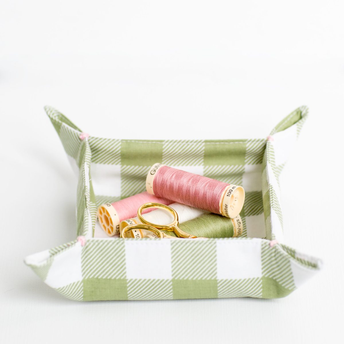 Fabric Nesting Tray Tutorial green