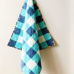 Baby Gingham Quilt in Blue