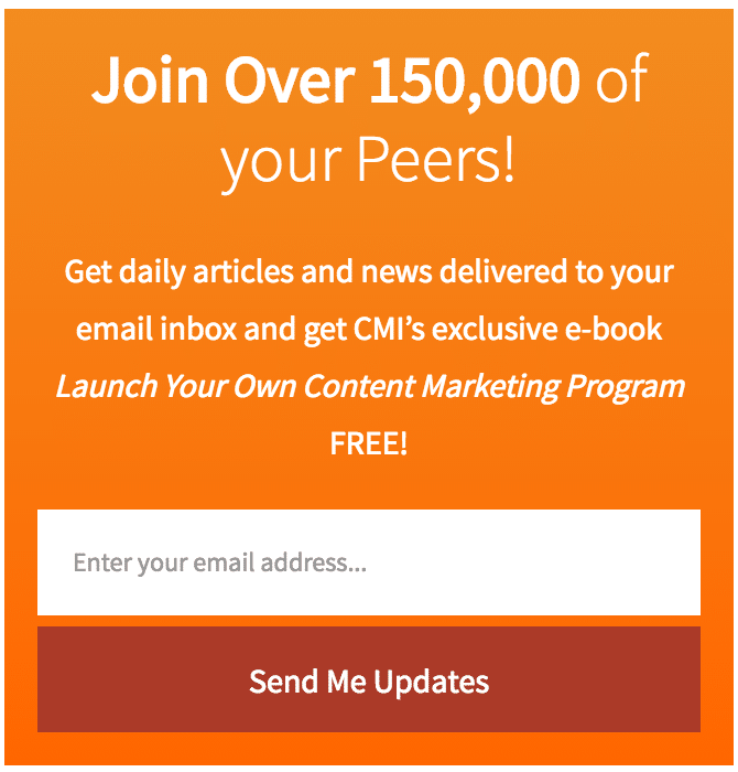 content marketing institute newsletter