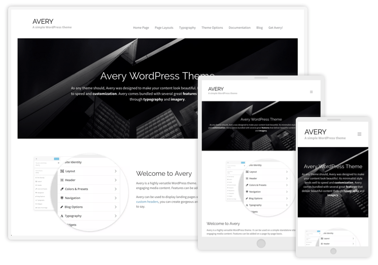 Avery WordPress Theme