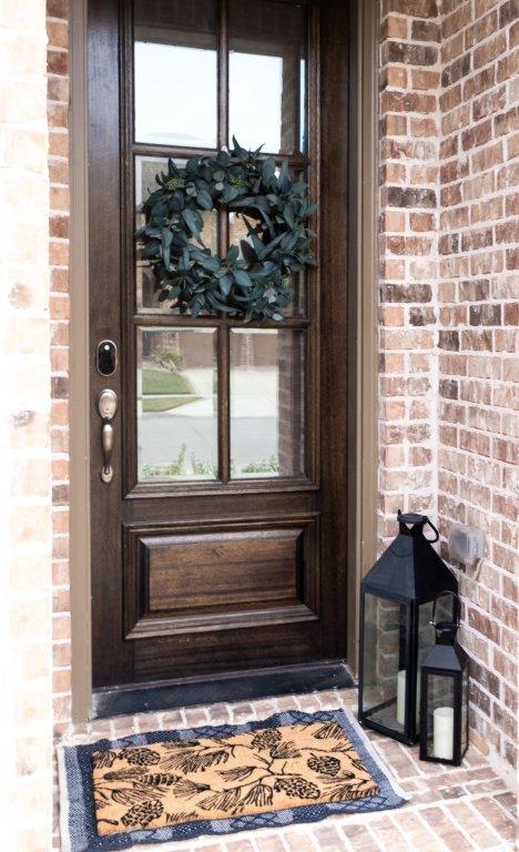layered door combination - refresh your front door