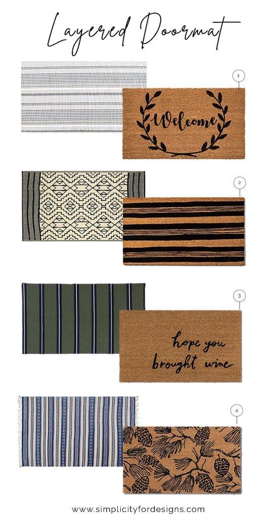 layered doormat combinations
