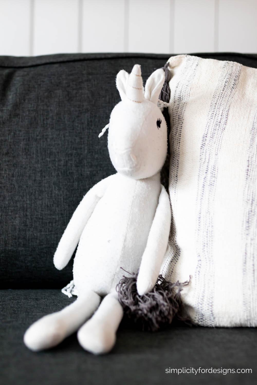 white unicorn teddy - Target